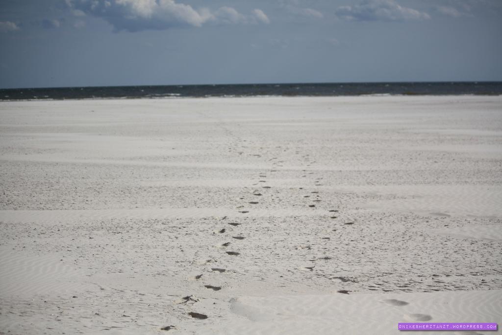 amrum, nordsee, wattenmeer, insel, meer, schleswig-holstein, hallige, kniep, strand, sand, sonne, spuren, himmelblau, dünen, nikesherztanzt