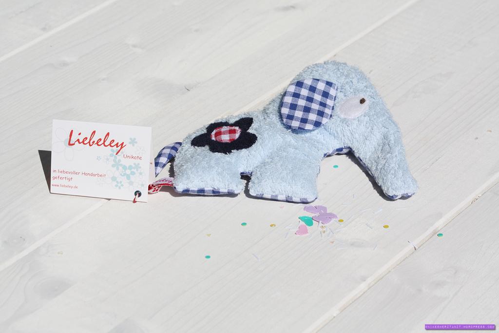 liebeley, elefant, stofftier, geburt, geschenk
