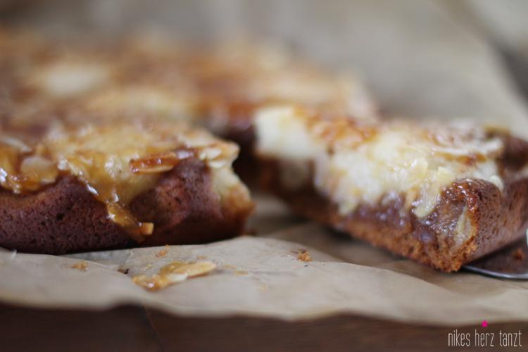 apfel, karamell, kuchen, vegan, food, nikesherztanzt, blog