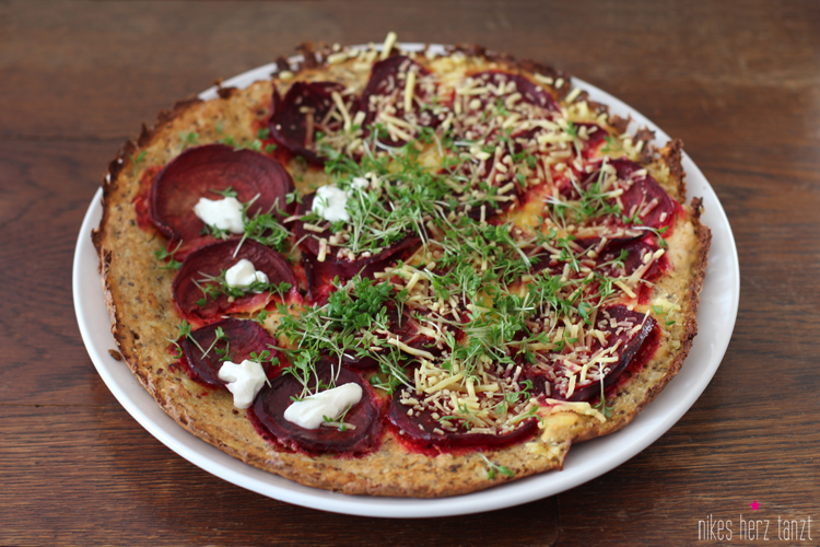 rote bete - pizza.