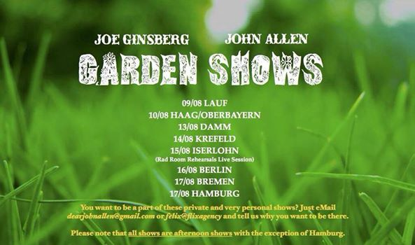 allen ginsberg tour garden shows