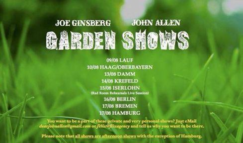 allen ginsberg tour garden shows