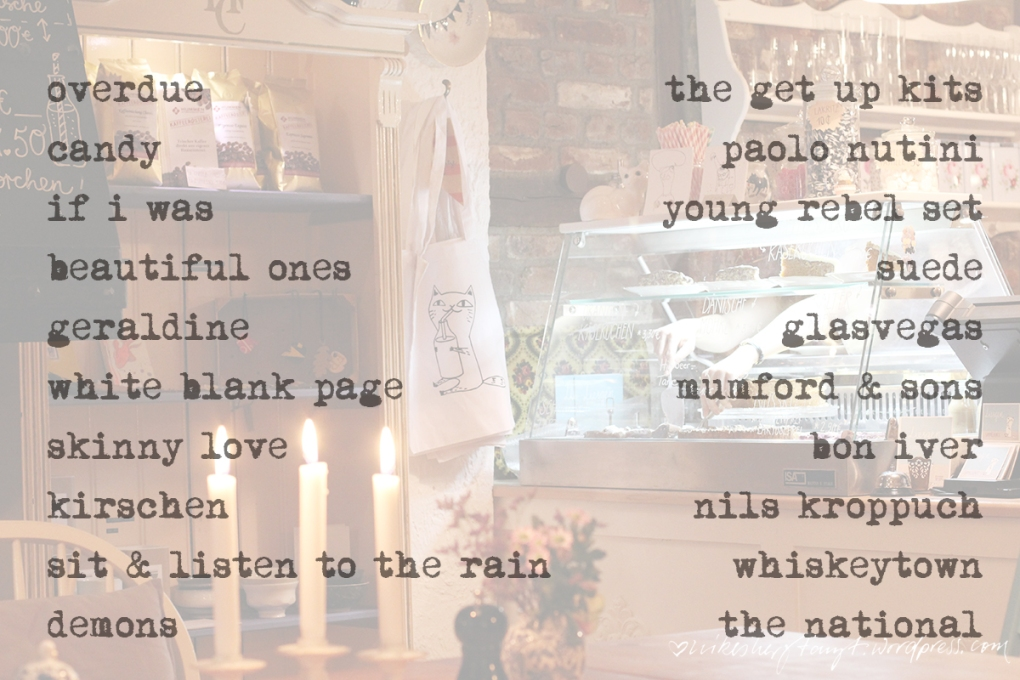 my favorite ten, playlist, liesgen.kunst und kuchen, krefeld, playlist, montagsmelodien, nikesherztanzt