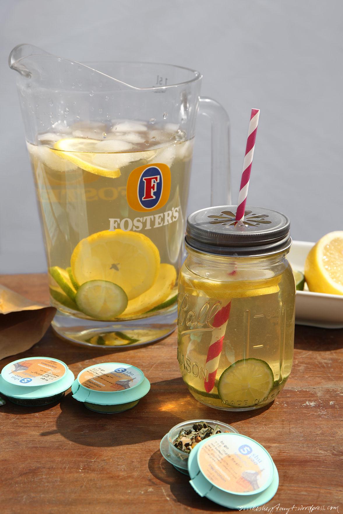 shuyoa, mate fresh, detox, lemon, lime, eistee, icetea, fosters beer pitcher, nikesherztanzt