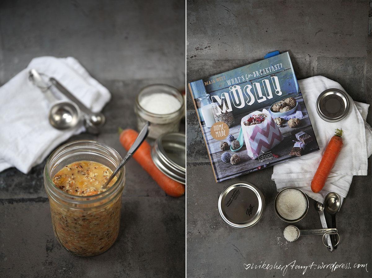 carrot cake overnight oats, vegan, frühstück, whats for breakfast?, nikesherztanzt, nikes herz tanzt